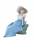 "Nao by Lladro Porcelain ""Listening to the birds' songs"" Figurine"