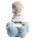 "Nao by Lladro Porcelain ""Little angel (candle holder)"" Figurine"