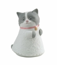 """Nao by Lladro Porcelain """"Little kitty (pink)"""" Figurine"""