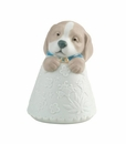 "Nao by Lladro Porcelain ""Little puppy (blue)"" Figurine"