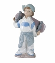 "Nao by Lladro Porcelain ""Little skateboarder"" Figurine"