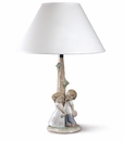 "Nao by Lladro Porcelain ""Love Is�"" Lamp Figurine"