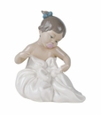 "Nao by Lladro Porcelain ""My blanky!"" Figurine"
