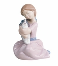 "Nao by Lladro Porcelain ""My puppy love"" Figurine"