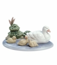 "Nao by Lladro Porcelain ""Pond family"" Figurine"