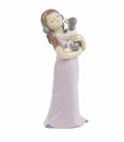 """Nao by Lladro Porcelain """"Puppy cuddles"""" Figurine"""