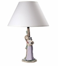 Nao by Lladro Porcelain Puppy Cuddles Lamp