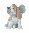 "Nao by Lladro Porcelain ""Puppy present"" Figurine"