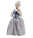 """Nao by Lladro Porcelain """"Rococo girl with flower"""" Figurine"""