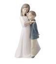 "Nao by Lladro Porcelain ""Sisterly love"" Figurine"