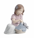 "Nao by Lladro Porcelain ""Sleep little cat"" Figurine"