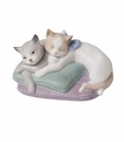 "Nao by Lladro Porcelain ""Snuggle cats"" Figurine"