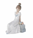 "Nao by Lladro Porcelain ""Spring has come!"" Figurine"
