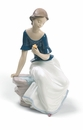 Nao by Lladro Porcelain Spring Reflections Figurine (Special Edition)