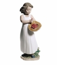"Nao by Lladro Porcelain ""Strawberry bonnet"" Figurine"