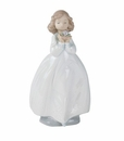 "Nao by Lladro Porcelain ""The flower girl"" Figurine"