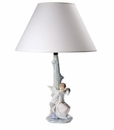 Nao by Lladro Porcelain Watching Over You Lamp