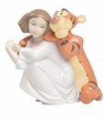 "Nao by Lladro Porcelain ""Hugs with Tigger"" Figurine"