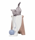 "Nao by Lladro Porcelain ""Kitten playtime"" Figurine"