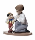 "Nao by Lladro Porcelain ""Pinocchio's first steps"" Figurine"