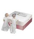 "Nao by Lladro Porcelain ""Pretty and shy (pack)"" Figurine"