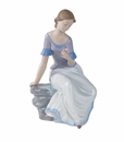 "Nao by Lladro Porcelain ""Spring reflections"" Figurine"