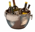 Nickel Aluminum Double Walled Hammered Cooler Home Decor