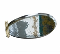 Nickel And Gold Bamboo Oblong Tray Home Decor