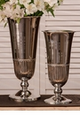 Nickel Fluted Vase Home Decor