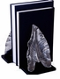Nickel Leaf Bookend Home Decor