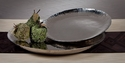 "Nickel Plated Steel ""Organic"" Platter - Large Home Decor"