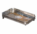 Nickel Rectangle Gallery Tray Home Decor