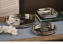 Nickel Square Tray Home Decor