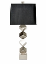 Nickel Stacked Cube Lamp (3 Way And 150W ) Home Decor