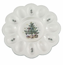 Nikko China Dinnerware Christmas Gift Deviled Egg Server