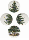 Nikko China Dinnerware Christmas Giftware Accent Salad Plates (Set of 4)