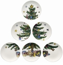 Nikko China Dinnerware Christmas Giftware Tapas Plate (Set Of 6)