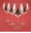 Nikko China Dinnerware Christmas Glassware Balloon Glasses (Set of 4)