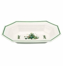 Nikko China Dinnerware Christmastime Oval Vegetable Bowl