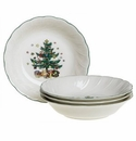 Nikko China Dinnerware Happy Holidays All-Purpose Bowls (Set Of 4)