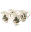 Nikko China Dinnerware Happy Holidays Coffee Mugs (Set Of 4)
