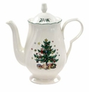 Nikko China Dinnerware Happy Holidays Coffee Pot & Lid