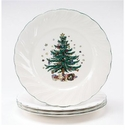 Nikko China Dinnerware Happy Holidays Dinner Plates (Set Of 4)