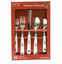 Nikko China Dinnerware Holiday Flatware 20 Piece Set (Service For 4)