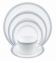 Nikko China Jewel Topaz Pearl 5 Piece Dinnerware Place Setting