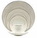 Nikko China Pearl Ariel 5 Piece Dinnerware Place Setting