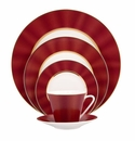 Nikko China Silk Rouge Elite Modern 5 Piece Dinnerware Place Setting