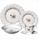 Nikko Ironstone Blue Peony 5 Piece Dinnerware Place Setting