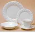 Nikko Ironstone White Satin 5 Piece Dinnerware Place Setting
