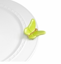 Nora Fleming Green Butterfly Flutter-By Mini Ceramic Charm